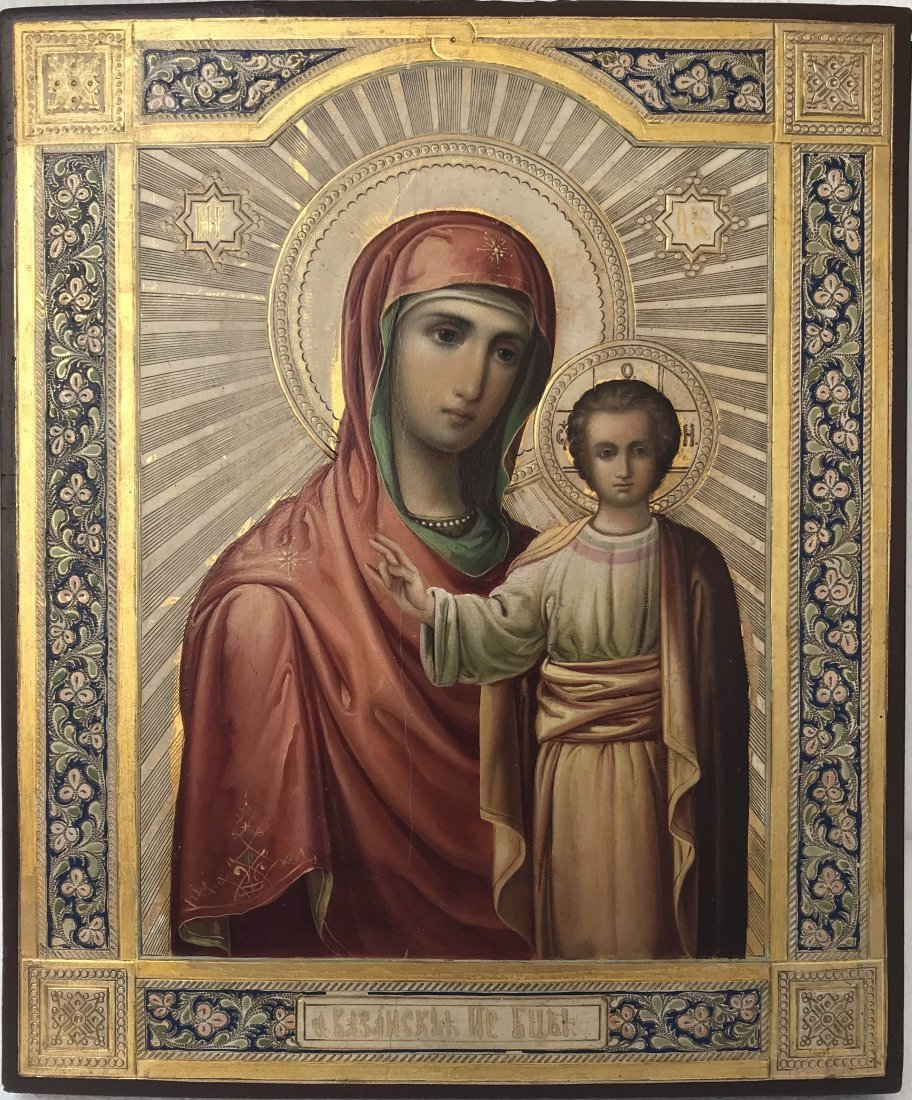 Russian Icon Kazanskaya Mother of God. Russia, late 19t