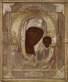 Russian Icon Kazanskaya Mother of God, Russia 19th C
