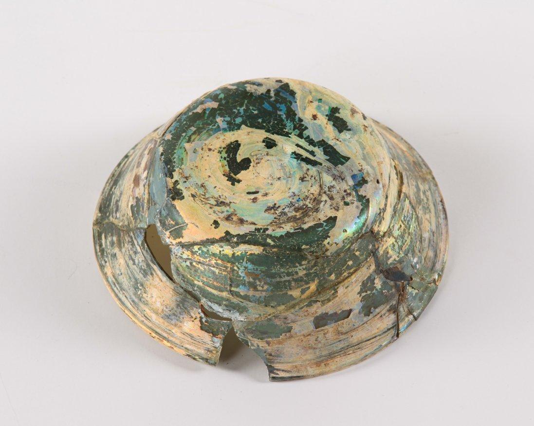 A ROMAN GLASS BOWL 1ST-3RD CENTURY - 4