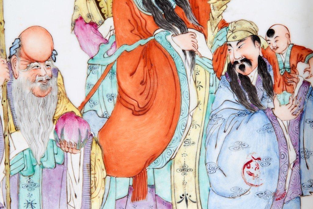 Chinese Famille Rose Porcelain Plaque Republic Period - 4