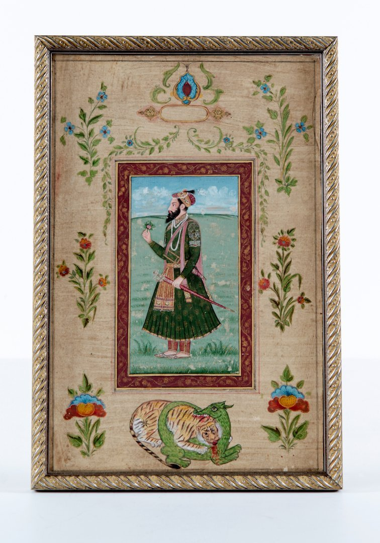 Antique Islamic miniature painting on paper
