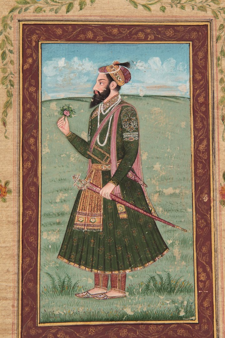 Antique Islamic miniature painting on paper - 2