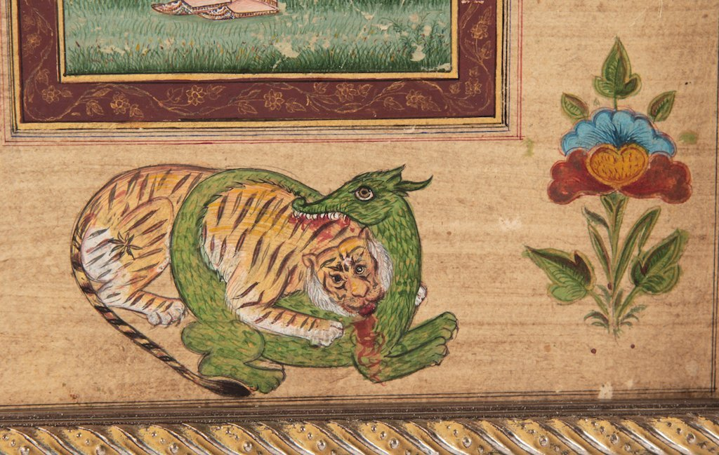 Antique Islamic miniature painting on paper - 3