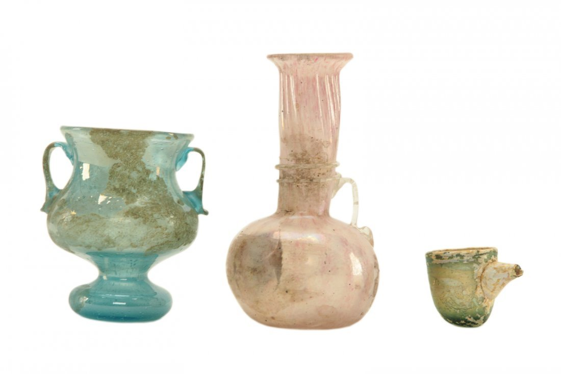 Roman Glass 3 pieces