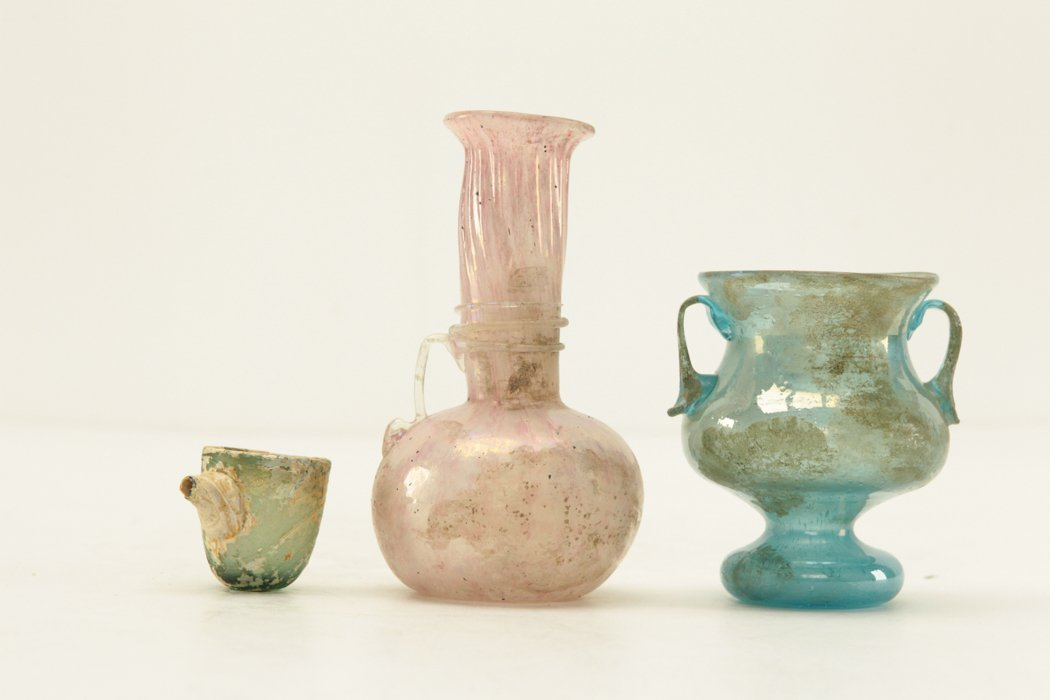 Roman Glass 3 pieces - 2