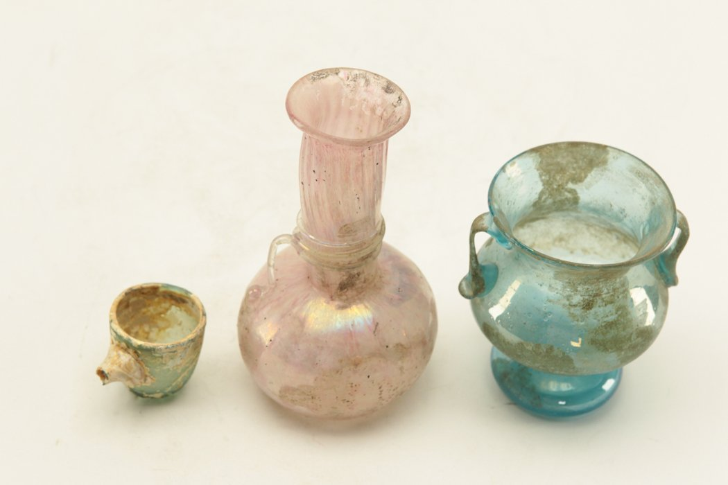 Roman Glass 3 pieces - 3