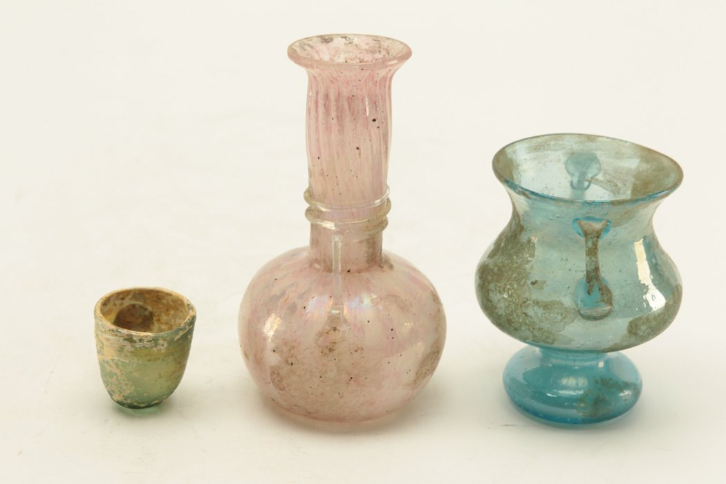 Roman Glass 3 pieces - 4