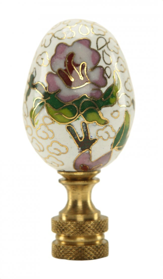 Chinese Cloisonne Egg Shape Lamp Finial