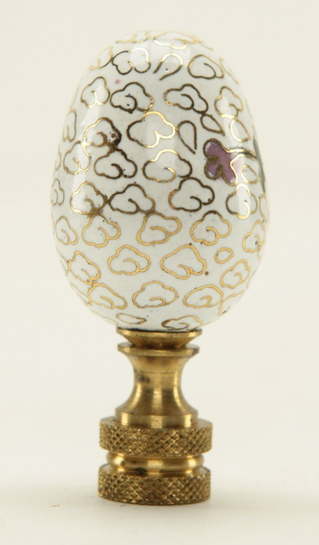 Chinese Cloisonne Egg Shape Lamp Finial - 3
