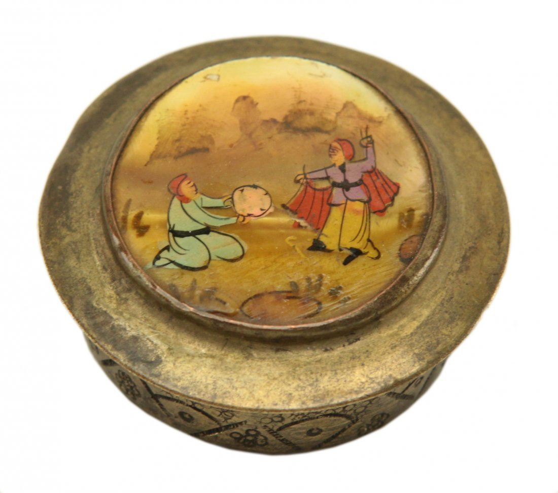 Metal Persian Vanity Compact Case