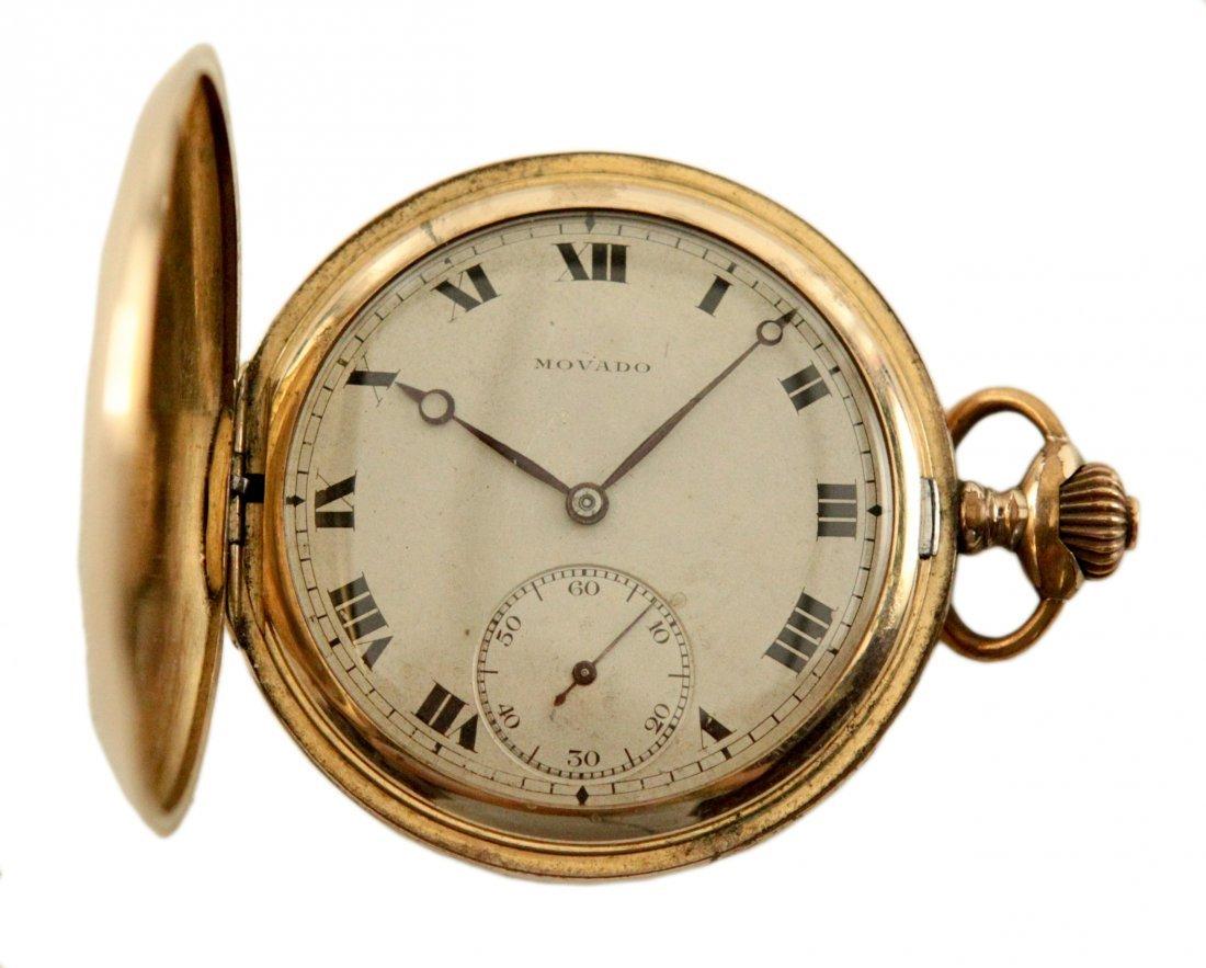 Movado Pocket Watch w/Roman Numerals