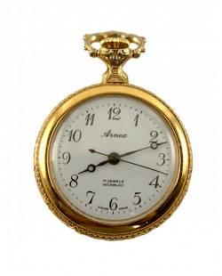 Arnex 17 Jewel Incablock Swiss Pocket Watch