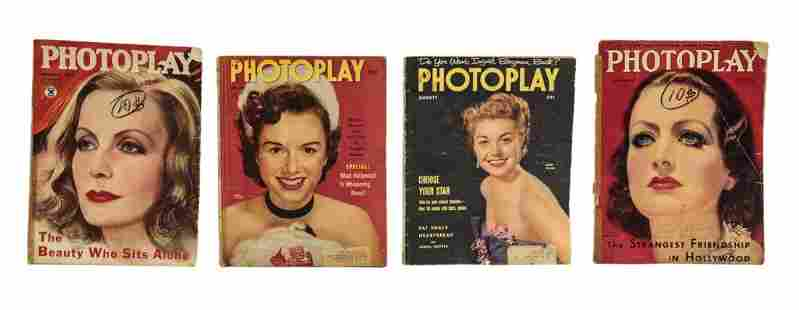 Four Photoplay Antique Magazines