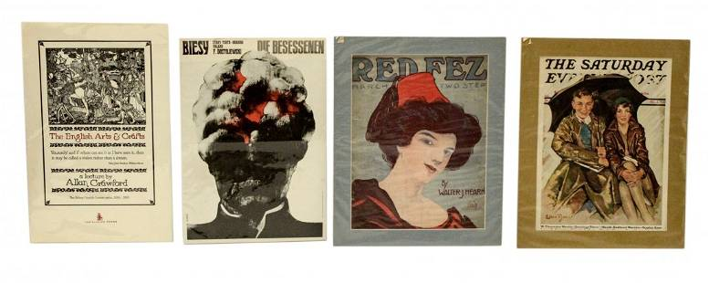 Lot of 4 Vintage Posters