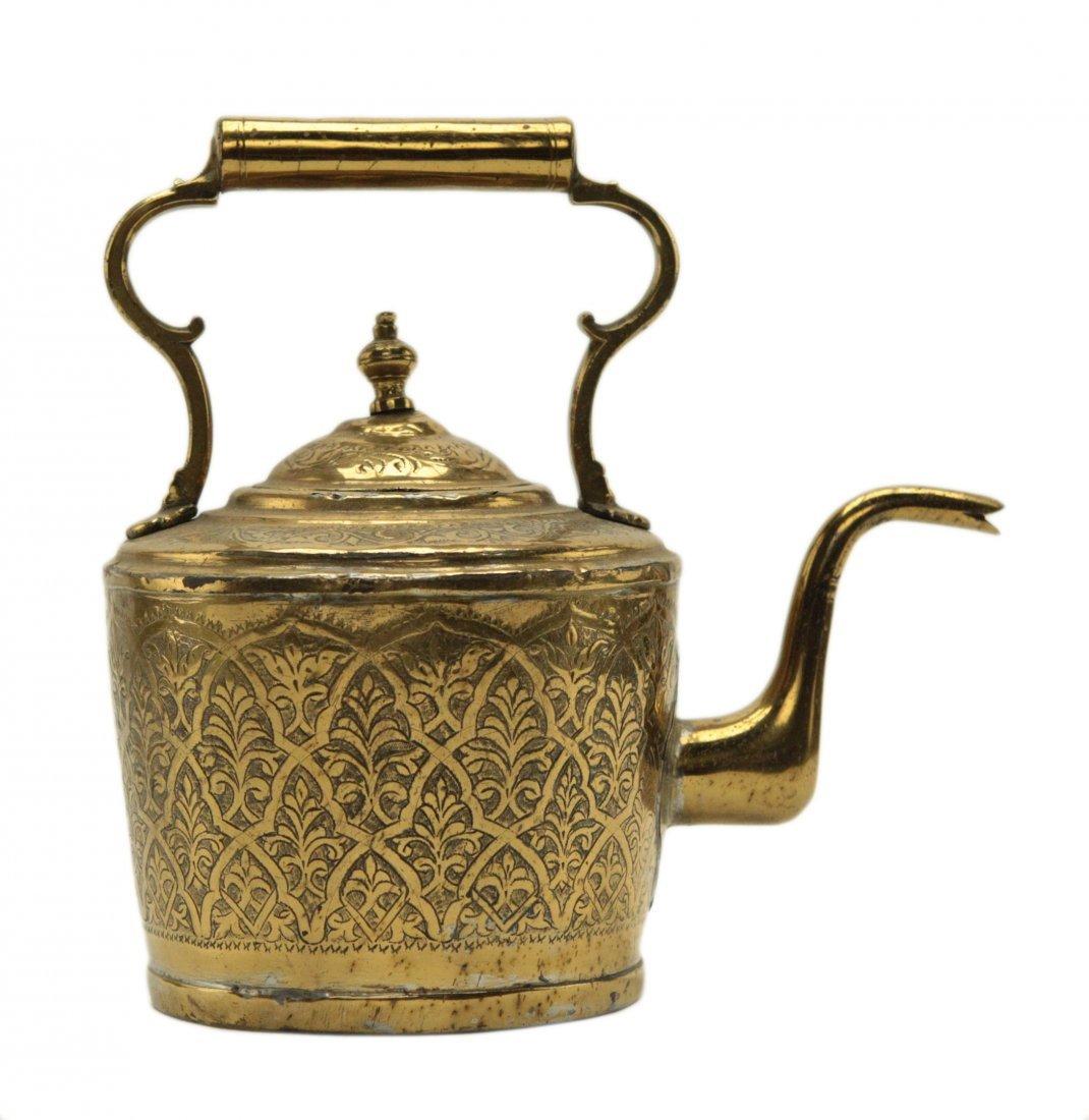 Turkish Brass Engraved Tea Kettle