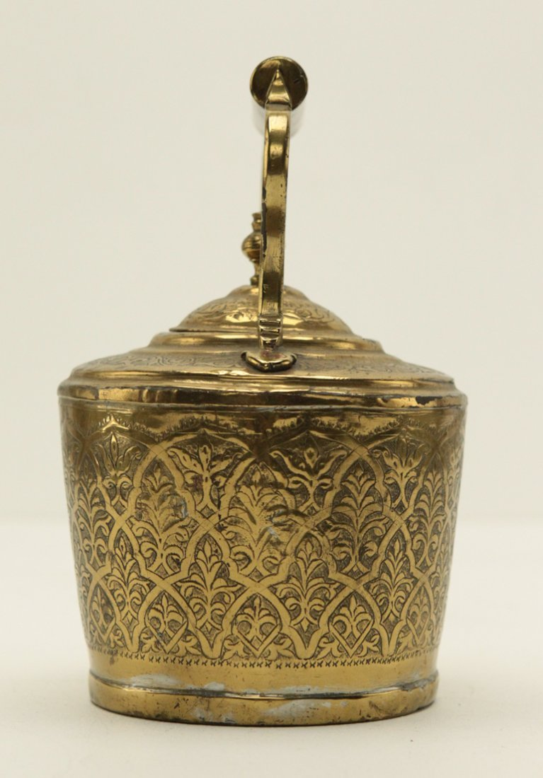 Turkish Brass Engraved Tea Kettle - 3