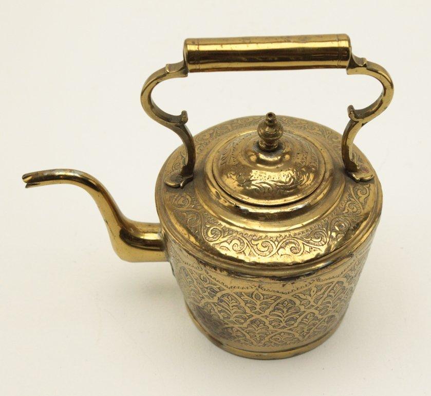 Turkish Brass Engraved Tea Kettle - 5