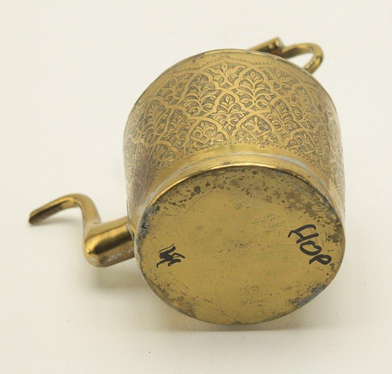 Turkish Brass Engraved Tea Kettle - 6