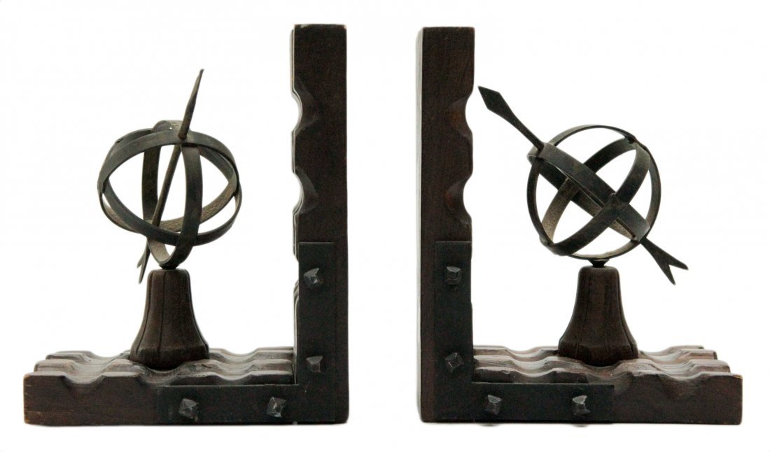 Wood and Metal Bookend