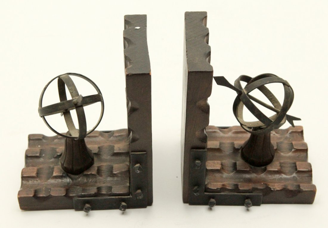 Wood and Metal Bookend - 2