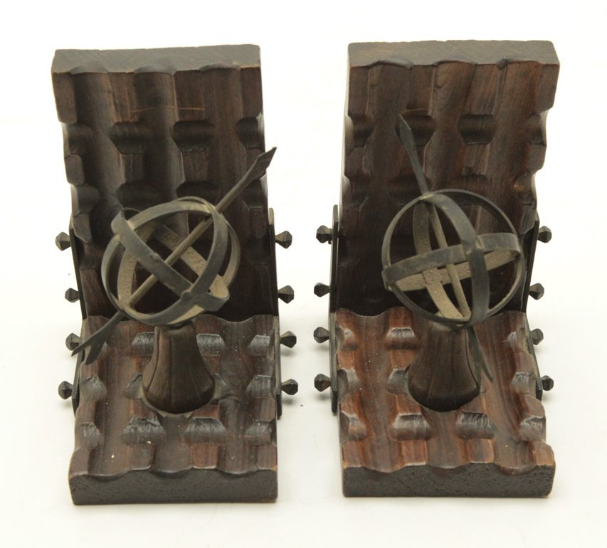 Wood and Metal Bookend - 3