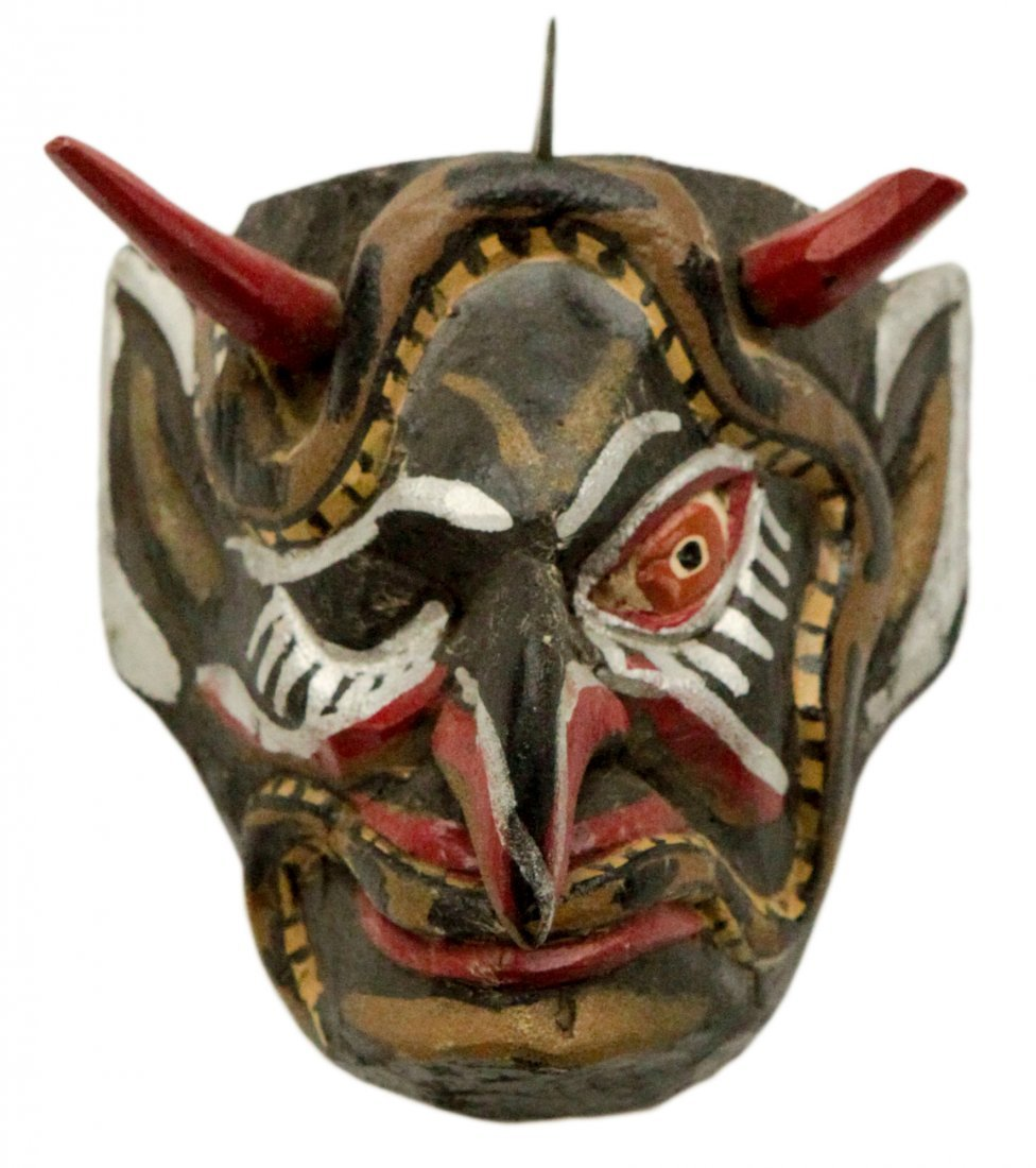 Small Hand Made Wood Mask