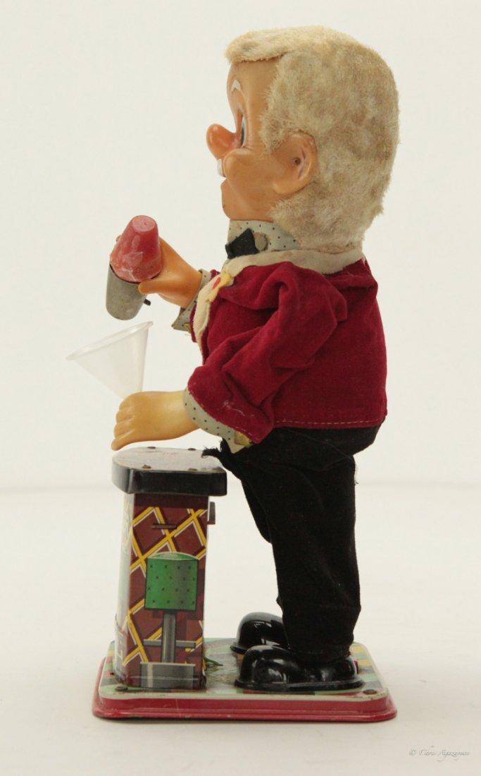Vintage Charlie Weaver Tin Bartender Toy 1950's - 4