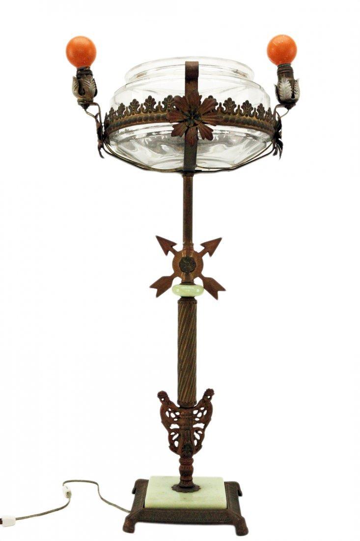 Antique Brass Standing Lamp