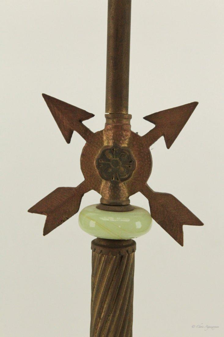 Antique Brass Standing Lamp - 2