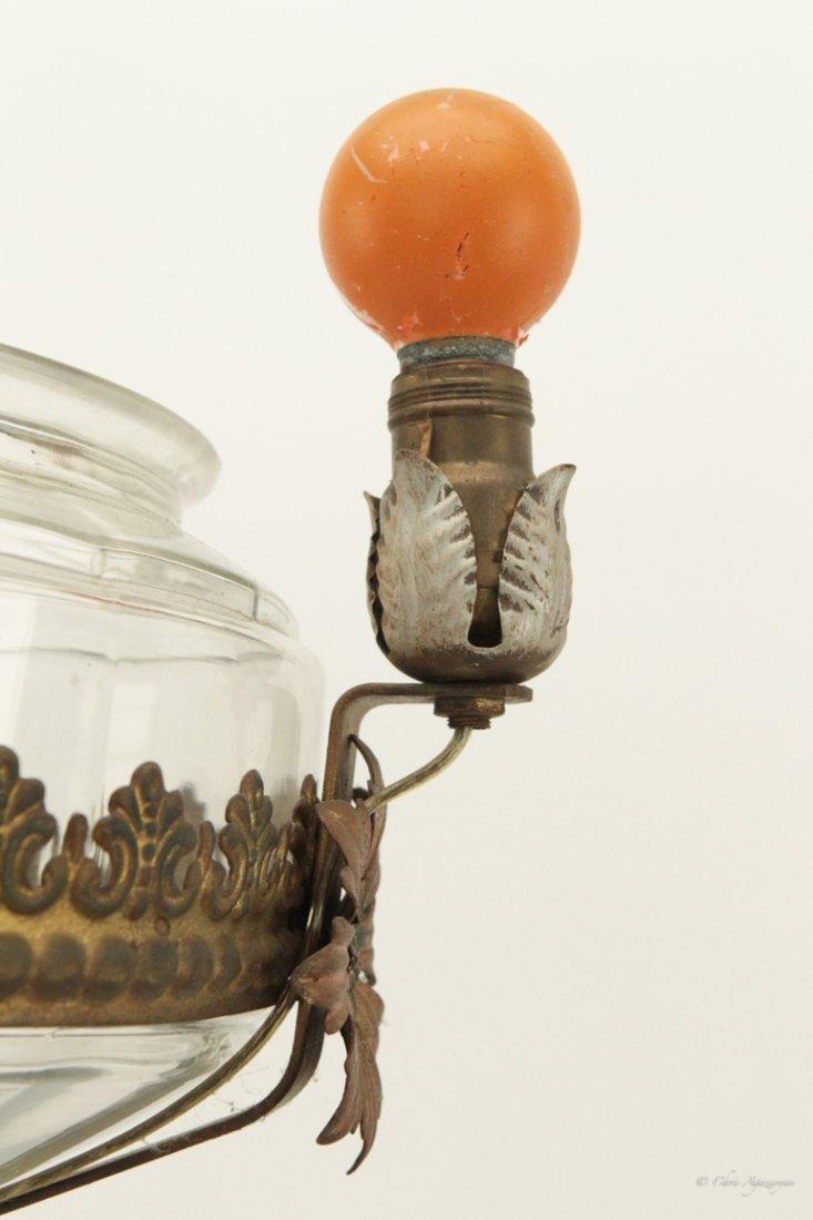 Antique Brass Standing Lamp - 5