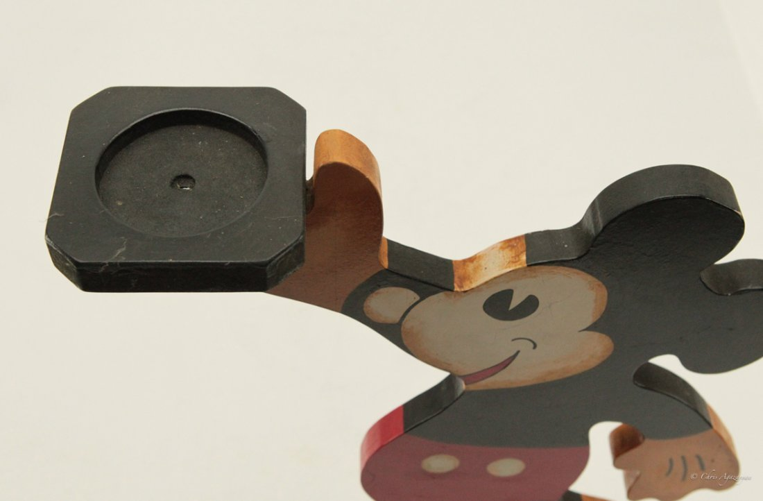Vintage Wood Mickey Mouse Tray Stand - 3