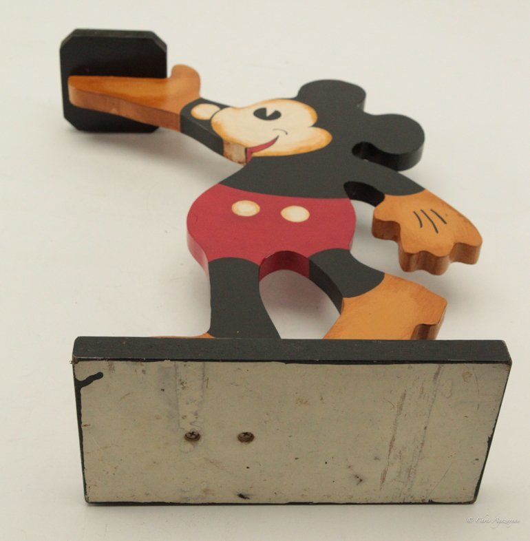 Vintage Wood Mickey Mouse Tray Stand - 4