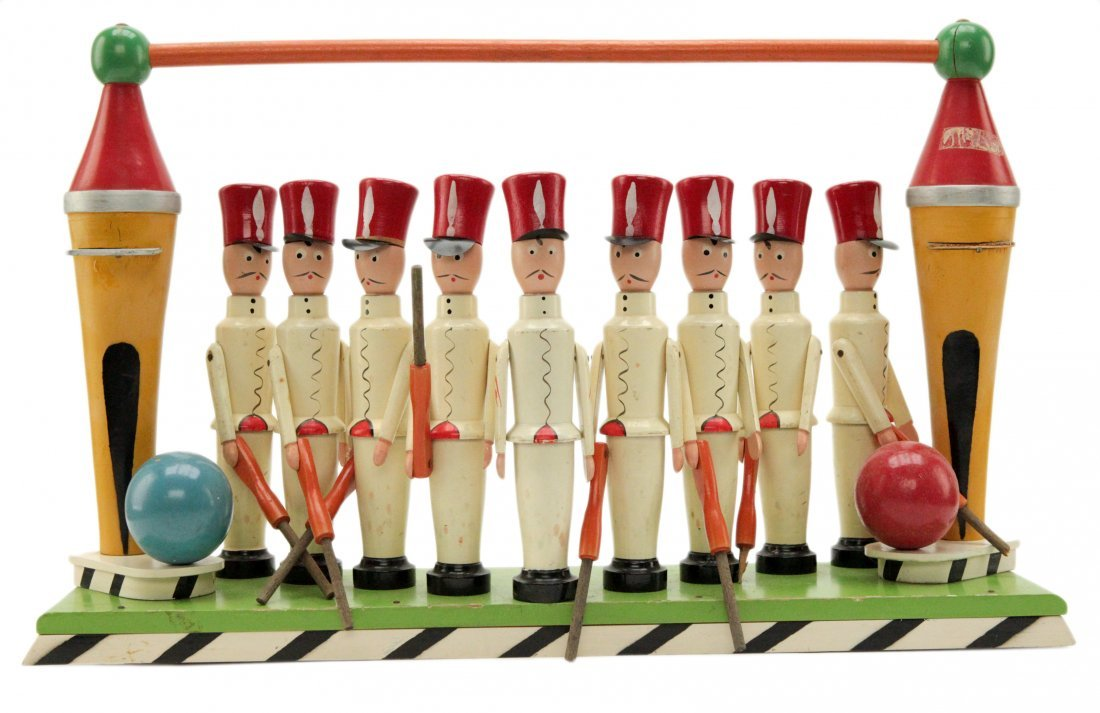Vintage Wooden Toy Soldiers Hand Painted