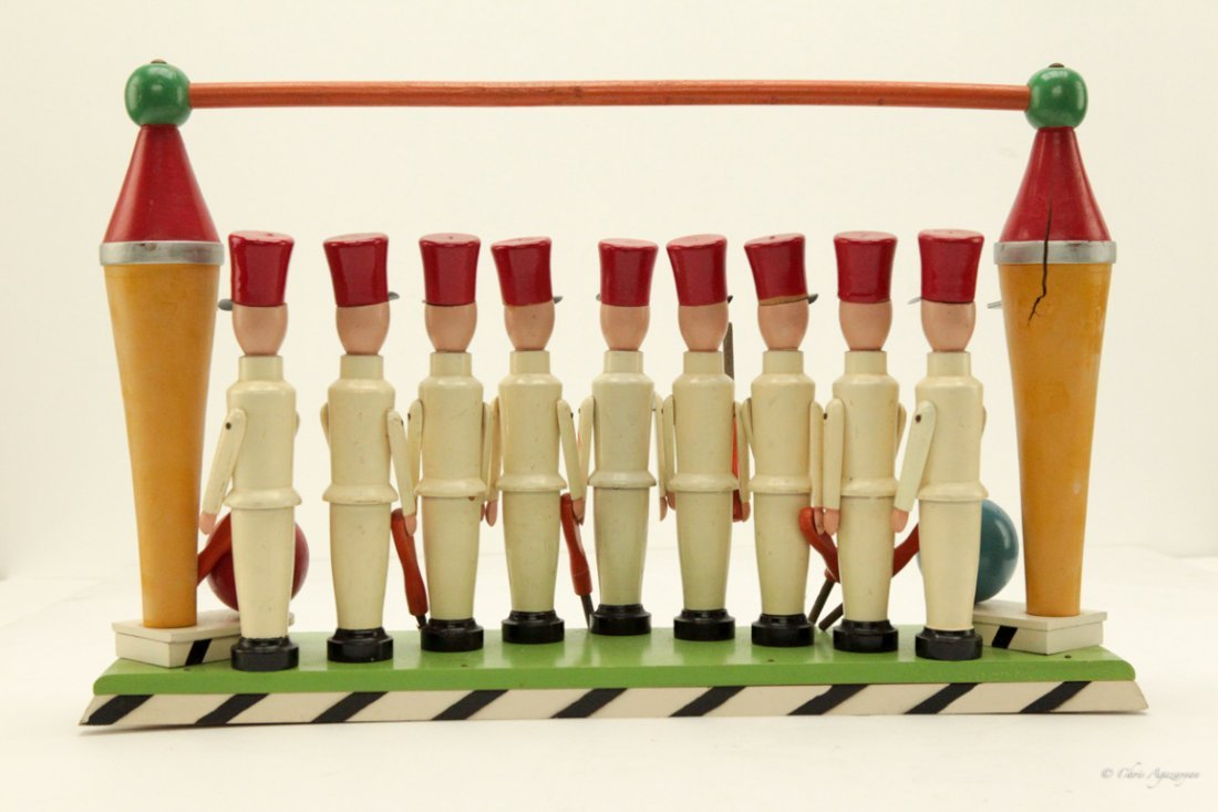 Vintage Wooden Toy Soldiers Hand Painted - 2
