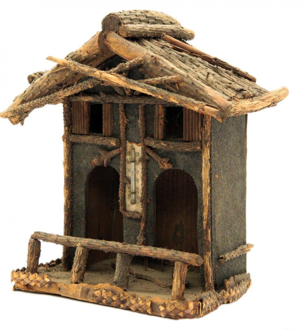 Vintage Primitive Hand Painted Wood Bird House