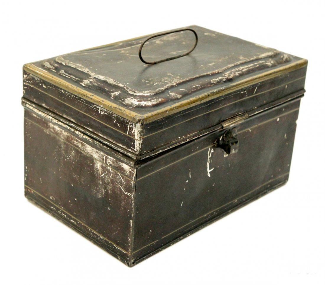 Vintage Tin Metal Box