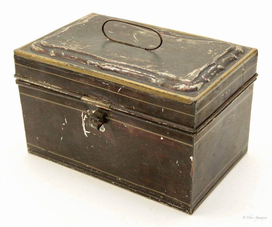 Vintage Tin Metal Box - 2