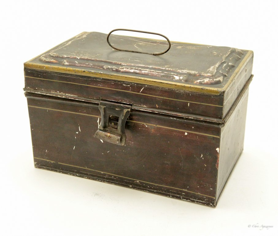 Vintage Tin Metal Box - 4