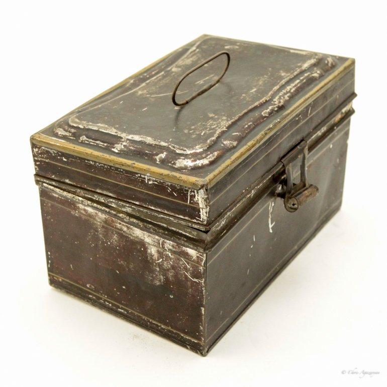 Vintage Tin Metal Box - 5