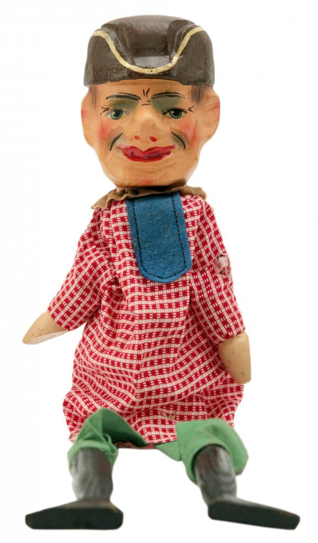 Victorian Punch and Judy Vintage Toy Puppet