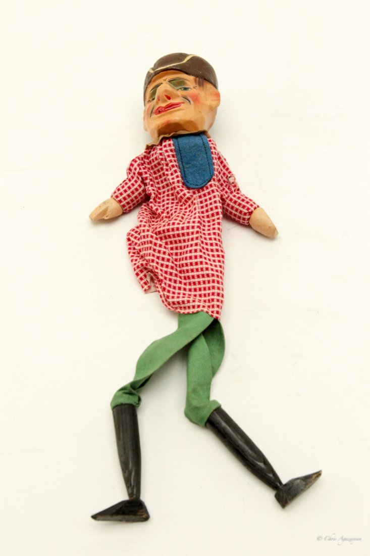 Victorian Punch and Judy Vintage Toy Puppet - 3
