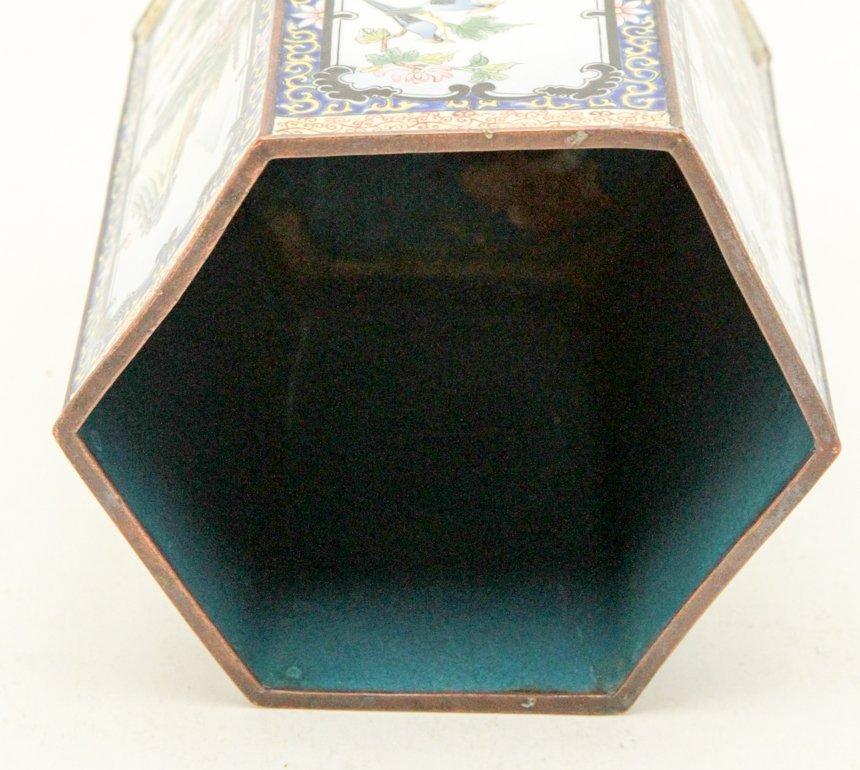 Chinese Enamel Hexagon Shape Brush Pot - 3