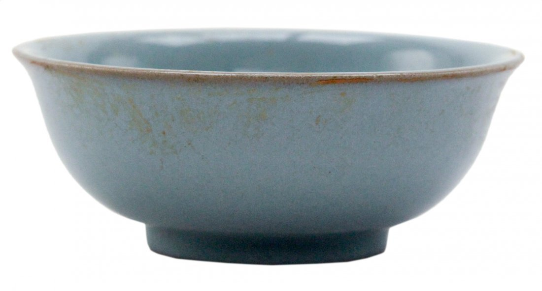 Chinese Light Blue Pottery Bowl