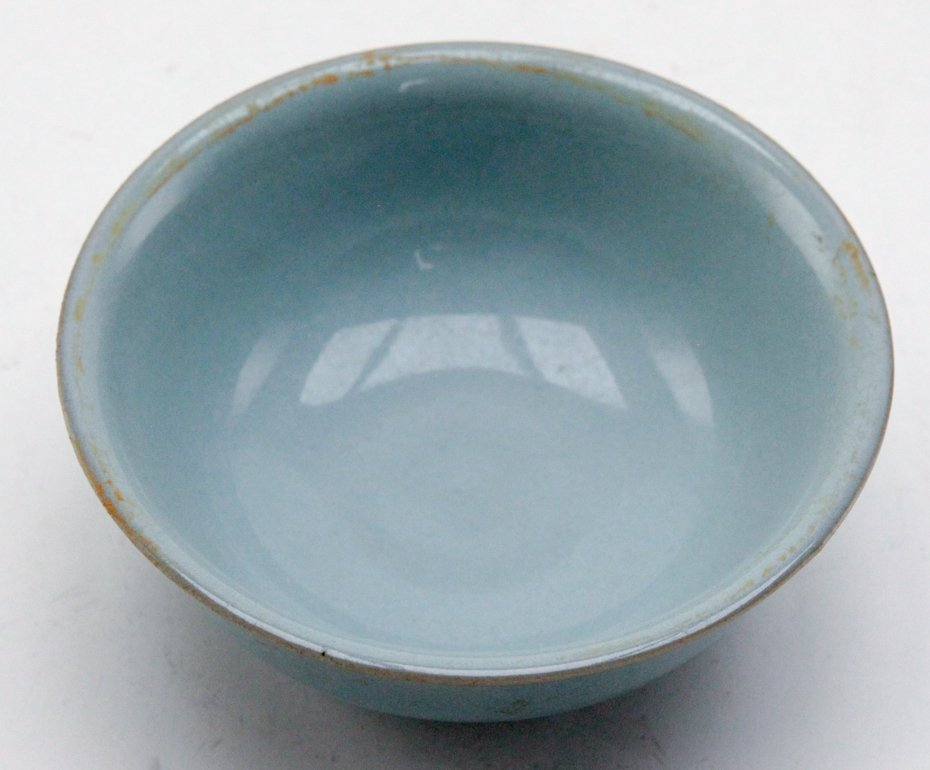 Chinese Light Blue Pottery Bowl - 3