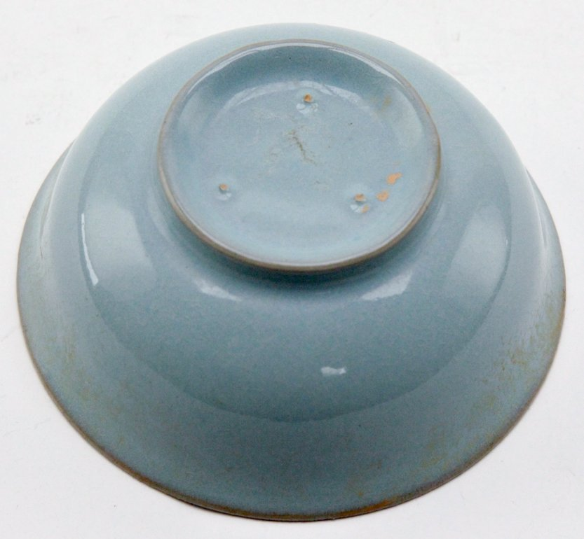 Chinese Light Blue Pottery Bowl - 4