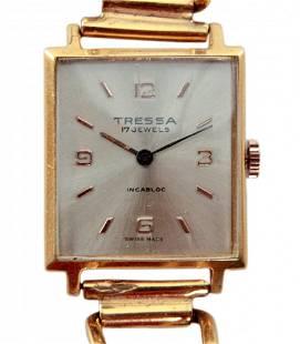 Tressa Ladies Watch Gold Plated