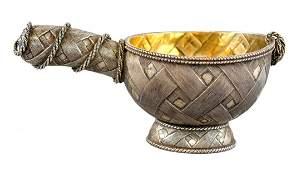 Russian Silver Kovsh Faberge