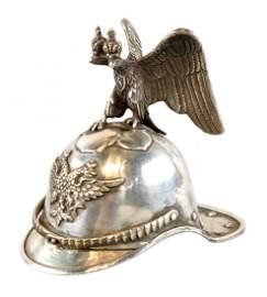 Miniature Silver Russian Imperial Helmet