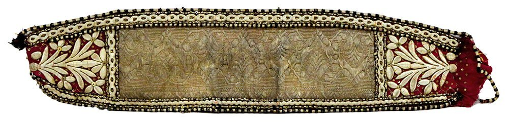 8 - 19C. Mogul Indian Gilt Silver Embroidered Belt