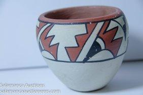 Beautiful Old Native American Jemez Pottery Jar